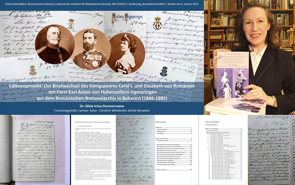 Editionsprojekt Karl Anton von Hohenzollern-Sigmaringen / Gastvortrag am Lektorat des Instituts für Rumänische Sprache (Universität Mainz)